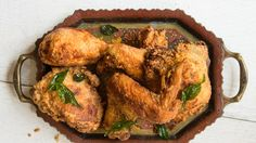 Kerala-Style Fried Chicken with Coconut Oil and Curry Leaves Recipe