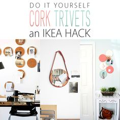 DIY IKEA Hacks with IKEA Cork Trivets - The Cottage Market