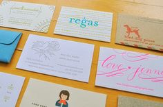 fabulous examples of buisness cards. I am totally digging, the Love.Jenny and Regas