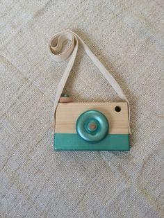 Wooden Toy Camera Wood Camera Handmade Metallic by WillowandBass