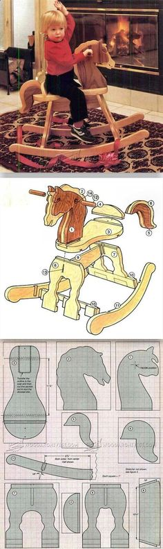 DIY Rocking Horse - Children's Woodworking Plans and Projects | WoodArchivist.com
