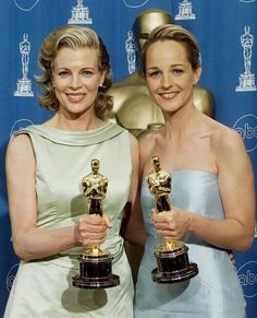 """Kim Basinger - Best Supporting Actress Oscar for """"L.A. Confidential"""" (1997) and Helen Hunt - Best Actress Oscar for """"As Good As It Gets"""" (1997)"""