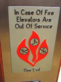 Elevator Warning Thingy @ Amherst College by TruthLying, via Flickr