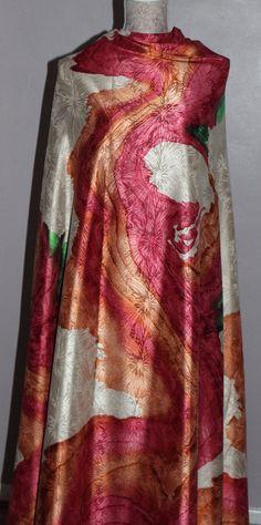 Jacquard silk fabric Crepe De Chine silk by FashionSenseStudio