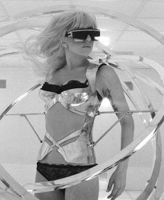 "Lady Gaga still from the ""Bad Romance"" music visual (2009)"