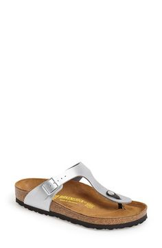 Birkenstock 'Gizeh' Birko-Flor™ Thong available at #Nordstrom color is titanium These are my go too for weekend comfort ~cece704
