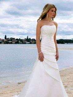 Wedding Dress A Line Wedding Dresses. Perfect for a beach wedding!!!