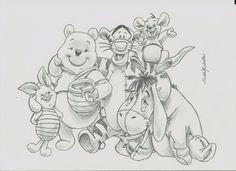 Walt #Disney Winnie The Pooh Art Drawing Sketch Original Animal Cartoon By Sm from $9.99