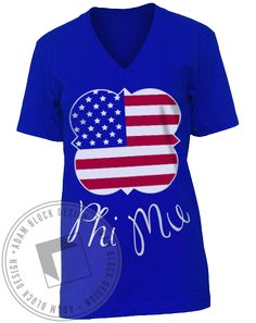 Phi Mu All American Girls V-Neck by Adam Block Design