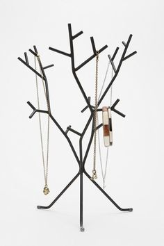 Love this take on the tree branch jewelry stands, a little more edgy, and unique.   Modern Branch Jewelry Stand  #UrbanOutfitters