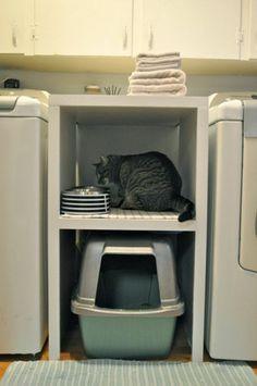 aménager-sa-buanderie-mangeoir-à-chat-original-coin-de-chat-dans-la-lingerie