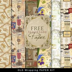 Click HERE                                        to download Freebies Kit of Vintage Wrapping Paper.                           And ...