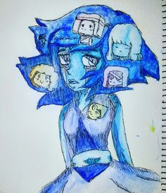 Painted lapis from steven universe