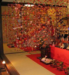 Tsurushibina Hina Matsuri (doll festival) decorations