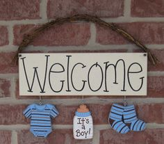 Ideas Baby Boy Shower Themes Babyshower Signs For 2019 Welcome Home Decorations, Baby Shower Decorations For Boys, Boy Baby Shower Themes, Baby Boy Rooms, Baby Decor, Baby Boy Shower, Wall Decorations, Baby Room, Kids Rooms