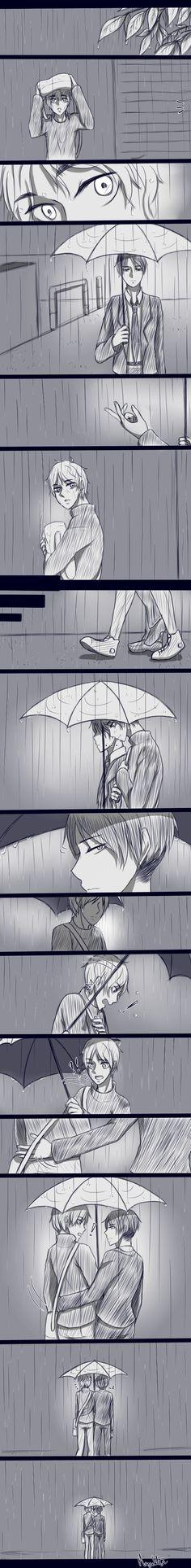 Rain~ by magickitt on DeviantArt | Ereri | Eren x Levi ❤️.❤️ Attack on Titan
