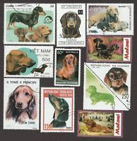 DACHSHUND** Int/'l Postage Stamp Collection **Great Gift Idea**