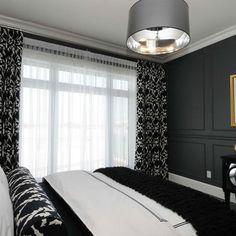 Bedroom +grey +black Design Ideas, Pictures, Remodel and Decor