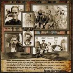 Paternal Great-Grandparents ~ Great use of multiple photos. Like how the photo ID's were included on the pictures.