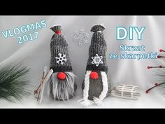 This step-by-step Scandinavian Christmas Gnome DIY tutorial is sure to make you home more festive for the holidays. All you need are are few inexpensive materials and you can make the cutest gnomes to decorate Felt Christmas Ornaments, Christmas Gnome, Christmas Decorations, Christmas Sewing, Christmas Knitting, Christmas Wrapping, Sock Crafts, Diy Crafts, Female Gnome
