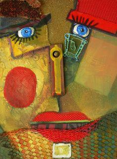 """Espacio Emergentes: Gabriela Paludi.    """"Si el objeto hablara contaría historias. Mi obra no busca mirar a los objetos, sino ver a través de ellos mediante la percepción."""" Collage / Argentina. (click imagen para visitar el sitio y participar)."""