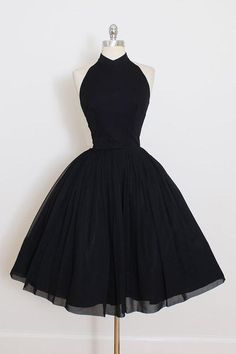 2018 A Line Black Chiffon Prom Dress,Halter Homecoming Dress Prom Dresses Prom Dresses Black, Homecoming Dress A-Line, Homecoming Dress Chiffon, Cheap Prom Dresses Prom Dresses 2020 Vintage Dresses 50s, Vintage Prom, Vintage Black, Vintage Style, Victorian Dresses, Wedding Vintage, Vintage Ideas, Vintage Pictures, Vintage Outfits