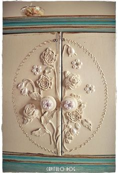 working with appliques on nightstands, how to, painted furniture, repurposing upcycling