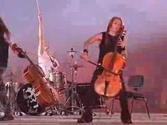 Concert at Palais Omnisports Paris-Bercy, Paris (France), 2005, as Rammstein's support ▶ Apocalyptica - Quutamo live - YouTube