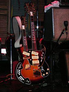 Deke Dickerson's TNM Custom Double Neck Guitar