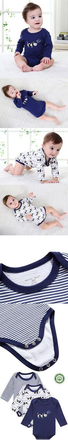 Mother Nest Baby Bodysuits Boy Onesies Navy