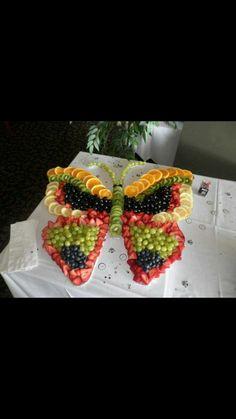 Butterfly fruit platter