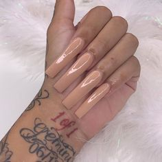 Image in nails collection by ~luxurious Taste~ Bling Acrylic Nails, Square Acrylic Nails, Aycrlic Nails, Best Acrylic Nails, Acrylic Nail Designs, Hair And Nails, Red Ink Tattoos, Hand Tattoos, Girl Neck Tattoos