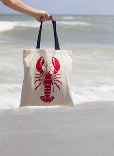 Lobster Canvas Tote Bag $10