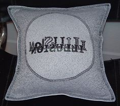Text Symbol Pillow Cover Geekery Modern Art by VintageUpcycled, $30.00