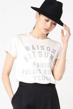 MAISON KITSUNE PARIS ROYAL CURVE Tシャツ