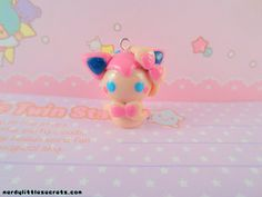 Pokemon Sylveon Ninfia Chibi Kawaii Phone Charm / Necklace via Etsy