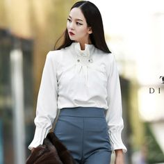 pin tuck Neck Blouse  luxury blouse dint 딘트