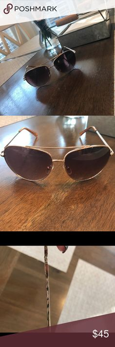 Micheal Kors Gold Aviator Sunglasses Authentic Michael Kors Gold Aviators Sunglasses purchased from Michael Kors store. Lenses in perfect condition. Michael Kors Accessories Sunglasses