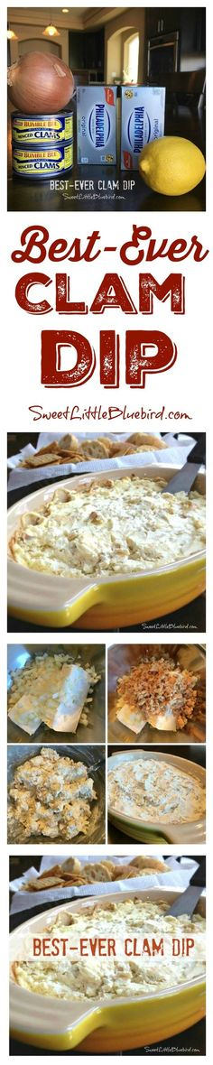 BEST-EVER CLAM DIP - This recipe has been in our family for over 30 years! A must-have on Thanksgiving and Christmas. With just four ingredients and a few minutes to throw together, this is THE appetizer my family looks forward to during the holidays. Simple to make, so good - never any leftovers!!
