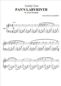 Pan's Labyrinth - Lullaby - Javier Navarrete | Piano Plateau Sheet Music