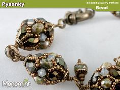 Beaded Bead Pattern PDF  Pysanky by Monomint on Etsy