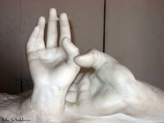 """AugusteRodin """"Lovers Hands"""" Hand Camille"""