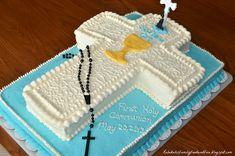 Family, Food, and Fun: First Holy Communion Cross Cake