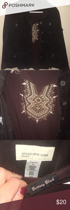 Jones New York jacket w/tank by Brittany Black Jones New York jacket w/cool tank by Brittany Black.  Both come together. Jones New York Jackets & Coats