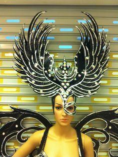 Showgirl Vegas feather Garuda Bird Wings Backpiece by DaNeeNa
