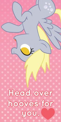 My Little Pony Derpy Hooves Valentine's Day Card. OMG it's Derpy Hooves!