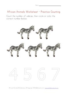 counting worksheet - number five