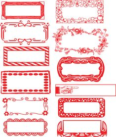 On pinterest doodle borders printable labels and doodle frames