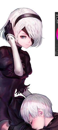 Drakengard 3, Neir Automata, Dope Art, Video Game Art, Fan Art, Dark, Random, Illustration, Anime Characters