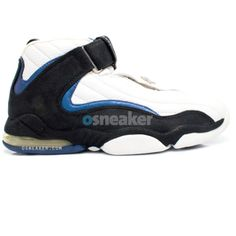new product 760aa 64375 The Nike Air Penny 4 White Black-Obsidian shoes became a staple for the Nike  brand, but were only available in limited quantities at only one single ...